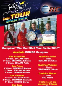 i vincitori del RED SHOT TOUR SICILIA 2018